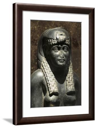 Granite Statue of Ptolemaic Queen--Framed Giclee Print