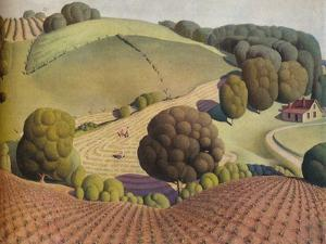 Young Corn, 1931, (1938) by Grant DeVolson Wood