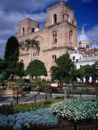Cathedral of Cuenca Looking Next to Parque Calderon, Cuenca, Azuay, Ecuador
