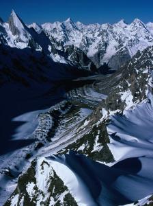 Gondoro Glacier from Gondoro Peak in Karakoram Range, Pakistan by Grant Dixon