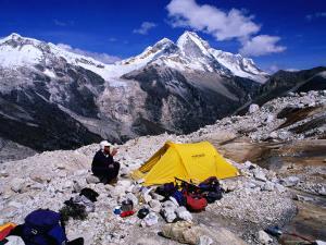 High Altitude Camp Site Opposite Nevado Huandoy, Cordillera Blanca, Ancash, Peru by Grant Dixon