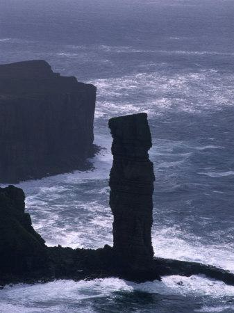 Old Man of Hoy Sandstone Stack (130M Tall), Hoy, Orkney Islands, Scotland