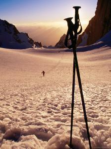 Ski Poles at Sunset on Tirich Glacier, Tirich Mir, Pakistan by Grant Dixon