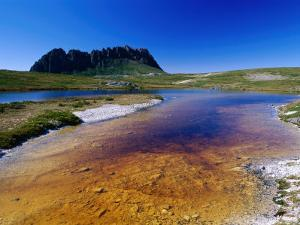 The Overland Track and Cradle Mountain from Kathleens Pool, Tasmania, Australia by Grant Dixon