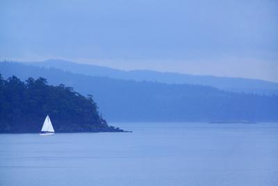Sailboat on Ocean. by Grant Faint