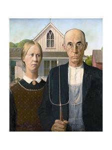American Gothic by Grant Wood by Grant Wood