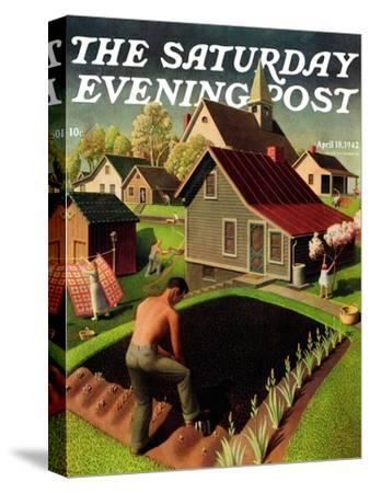 """Spring 1942,"" Saturday Evening Post Cover, April 18, 1942"