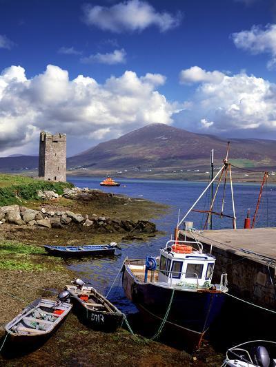 Granuaile's Tower, Kildavnet Castle, Achill Island, County Mayo, Ireland-Chris Hill-Photographic Print