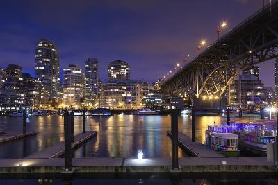 Granville Bridge, Vancouver, British Columbia, Canada-Walter Bibikow-Photographic Print