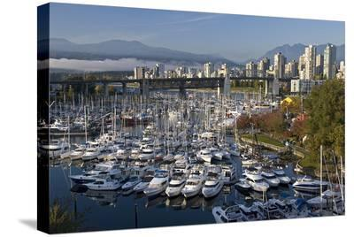 Granville Island Marina--Stretched Canvas Print