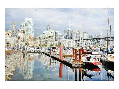 Granville Isld Harbor Vancouver--Art Print