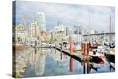 Granville Isld Harbor Vancouver--Stretched Canvas Print