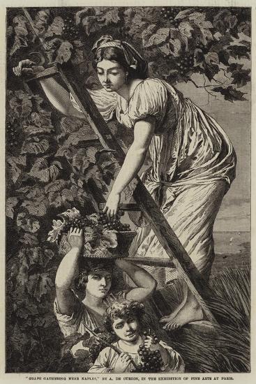 Grape Gathering Near Naples-Paul Alfred De Curzon-Giclee Print