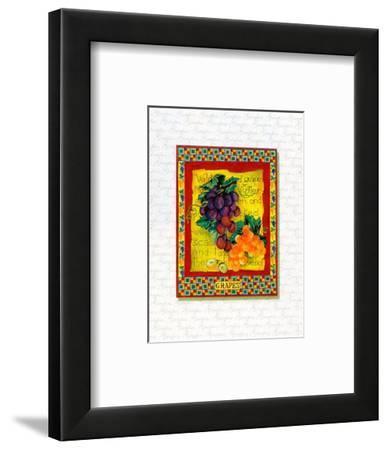 Grapes Arrangement-Tricia Miller-Framed Art Print
