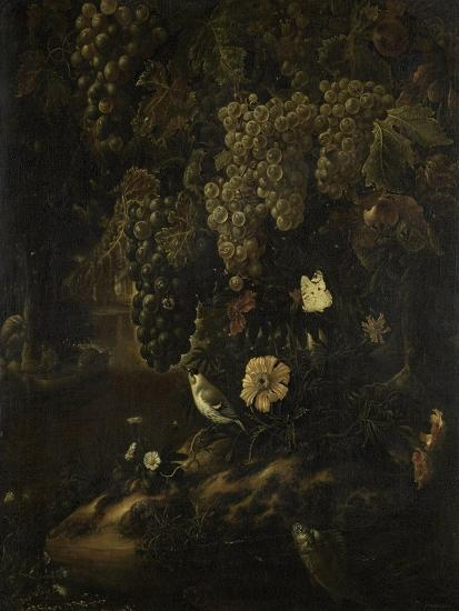Grapes, Flowers and Animals-Isac Vromans-Art Print