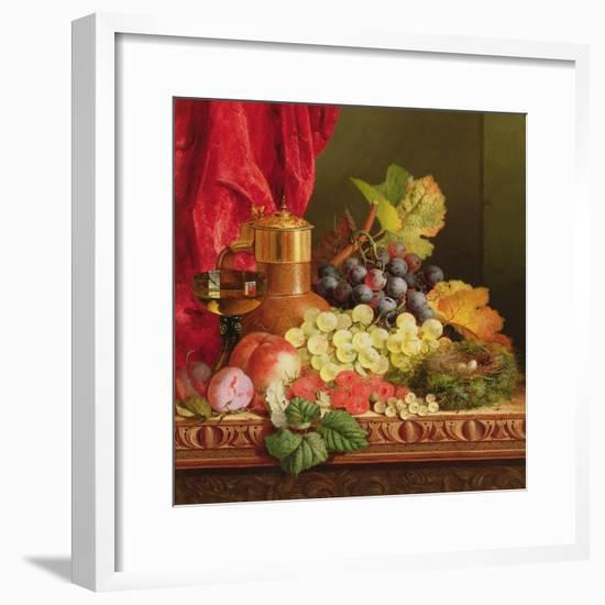 Grapes, Peaches, Plums and Other Fruit-Edward Ladell-Framed Giclee Print