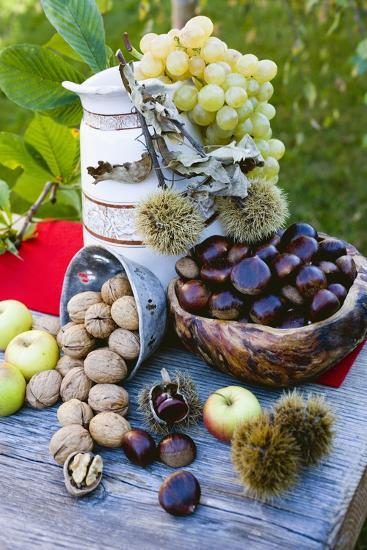 Grapes, Sweet Chestnuts, Apples and Nuts-Eising Studio - Food Photo and Video-Photographic Print