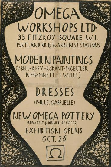 Graphic Advert for the Omega Workshops, 1920--Giclee Print