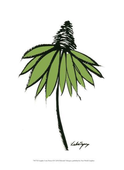 Graphic Cone Flower II-Deborah Velasquez-Art Print