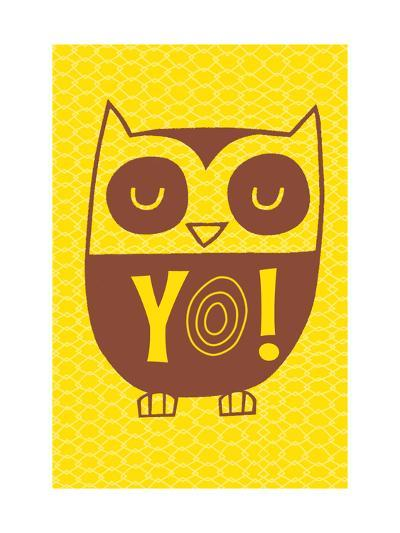 Graphic Cool Owl--Art Print