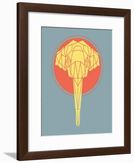 Graphic Elephant-Kindred Sol Collective-Framed Art Print