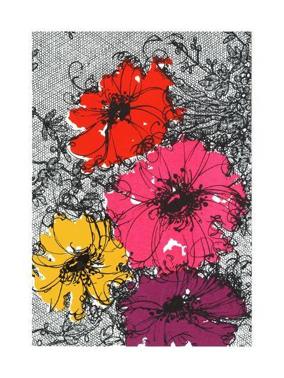 Graphic Floral Illustration--Art Print