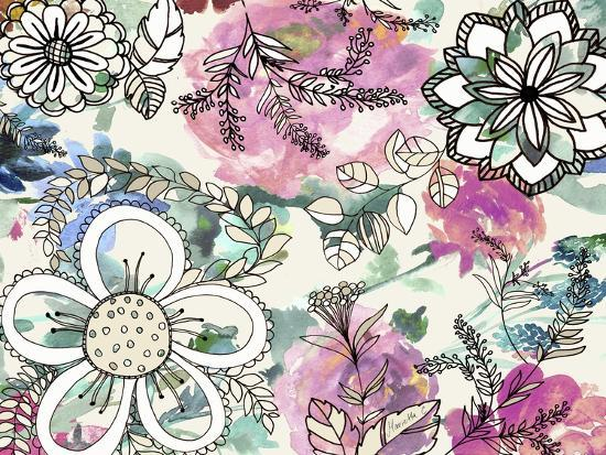 Graphic Flowers-Marietta Cohen Art and Design-Giclee Print