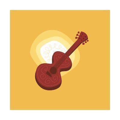 Graphic Guitar--Art Print