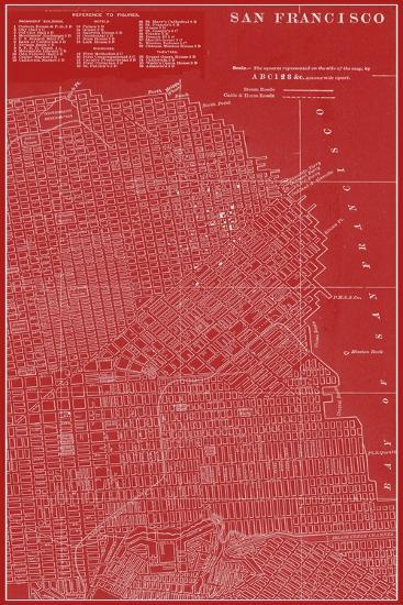 Graphic Map of San Francisco-Vision Studio-Art Print