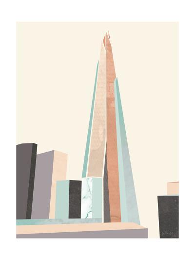 Graphic Pastel Architecture I-Green Lili-Art Print