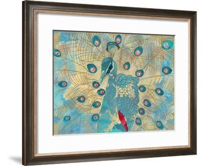 Graphic Peacock I-Catherine Kohnke-Framed Art Print