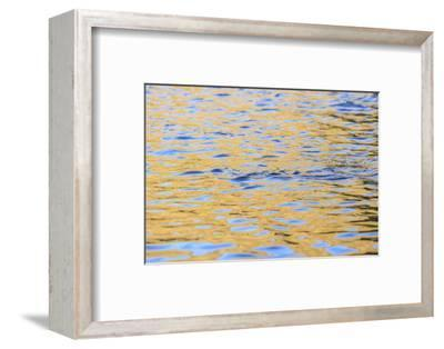 Graphic reflections on river surface, Lower Deschutes River, Central Oregon, USA-Stuart Westmorland-Framed Photographic Print