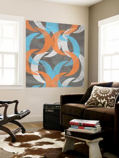 Graphic Wave II-Jennifer Goldberger-Wall Mural