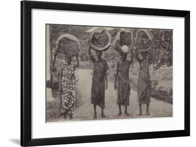 Grass Women, Colombo--Framed Photographic Print