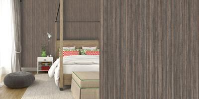 Grasscloth Bronze Self-Adhesive Wallpaper