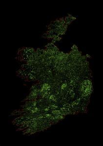 Forest Cover Of Ireland by Grasshopper Geography