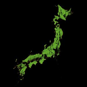 Forest Cover Of Japan by Grasshopper Geography