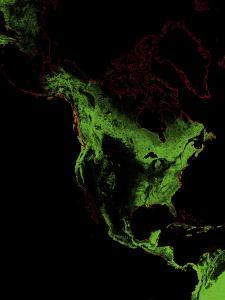 Forest Cover Of North America by Grasshopper Geography