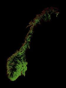 Forest Cover Of Norway by Grasshopper Geography