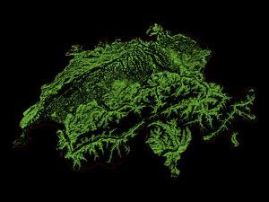 Forest Cover Of Switzerland by Grasshopper Geography