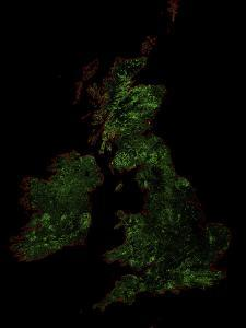 Forest Cover Of The British Isles by Grasshopper Geography