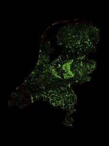 Forest Cover Of The Netherlands by Grasshopper Geography