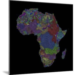 River Basins Of Africa In Rainbow Colours by Grasshopper Geography