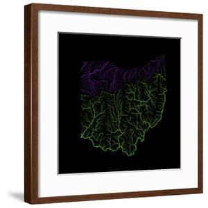 River Basins Of Ohio In Rainbow Colours by Grasshopper Geography