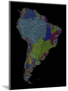 River Basins Of South America In Rainbow Colours by Grasshopper Geography