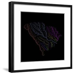 River Basins Of South Carolina In Rainbow Colours by Grasshopper Geography
