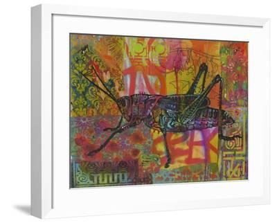 Grasshopper, Grasshoppers, Insects, Jumper, Bugs, Stencils, Pop Art-Russo Dean-Framed Giclee Print