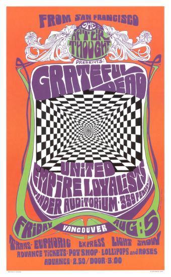 Grateful Dead in Concert, 1966 Art Print by Bob Masse