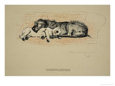 Gratification, 1930, 1st Edition of Sleeping Partners-Cecil Aldin-Giclee Print