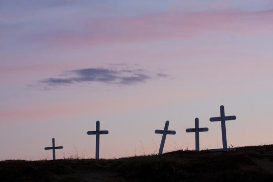 Grave Markers, Seward Peninsula, Alaska-Ken Archer-Photographic Print